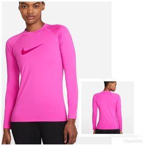 Nike Pink Long Sleeve Hydroguard Swim Shirt Size M